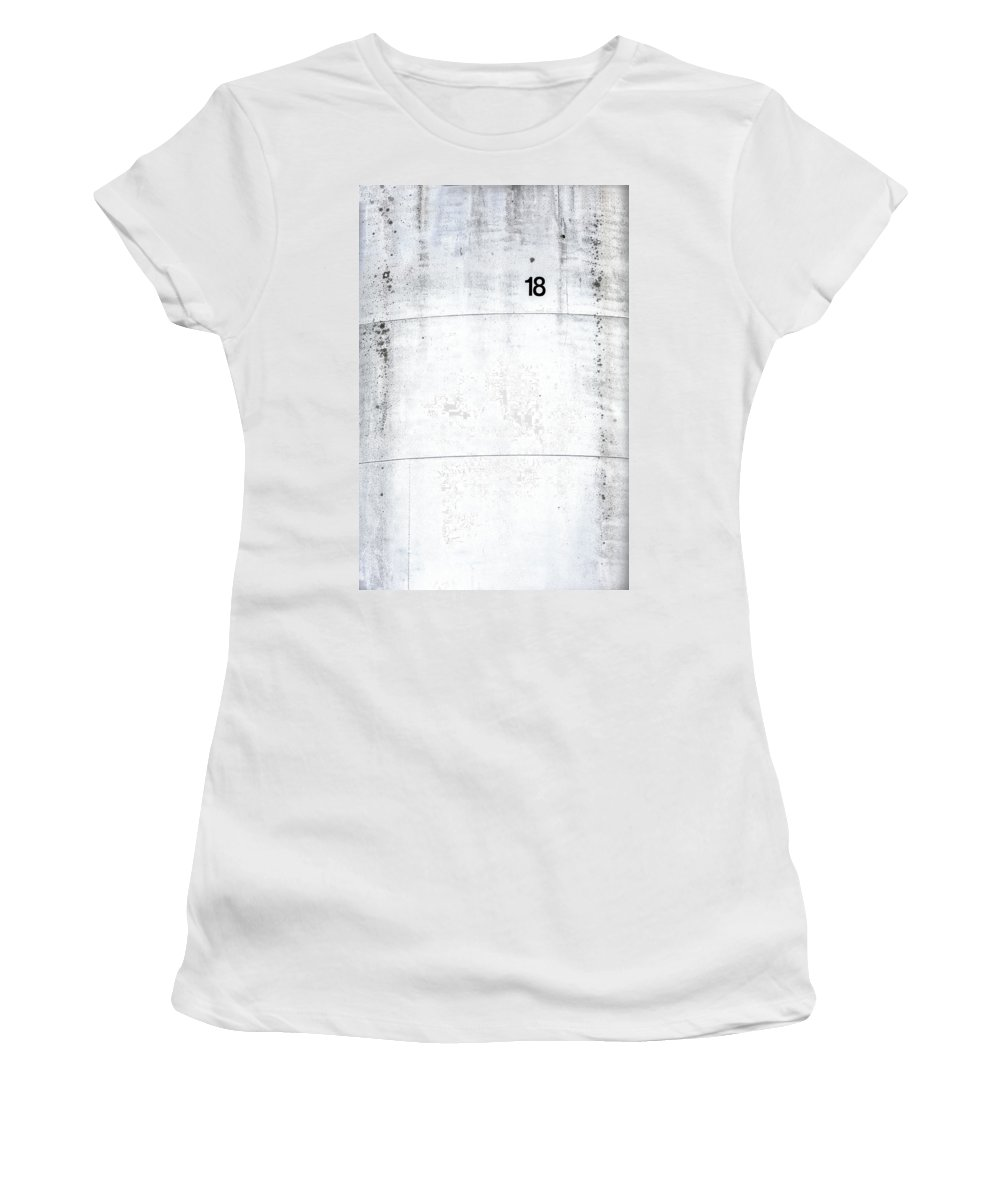 Abstract Women's T-Shirt featuring the photograph Tank Farm 02 by Russ Dixon