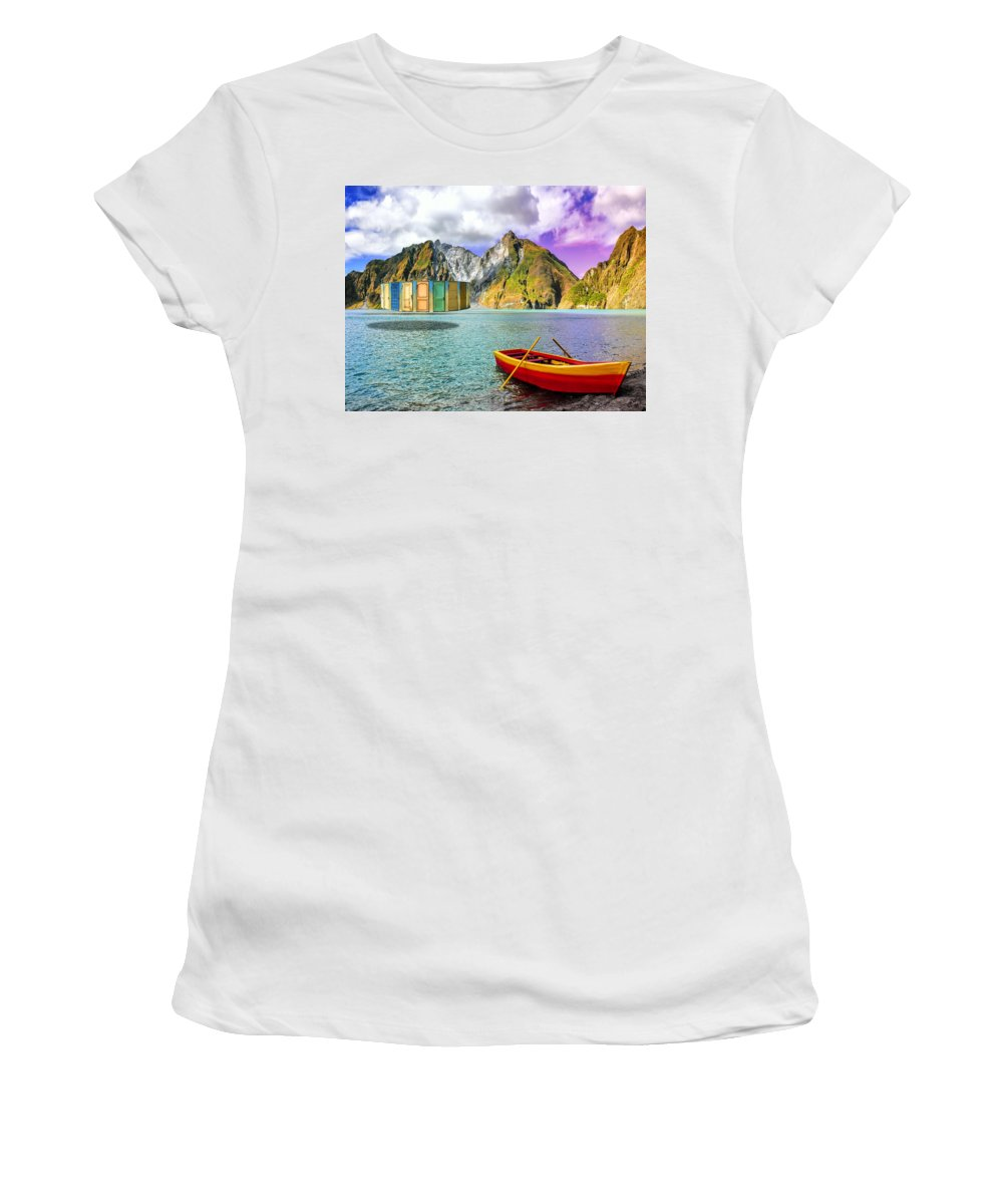 Time Travel Women's T-Shirt (Athletic Fit) featuring the photograph Temporal Paradox Generator by Dominic Piperata