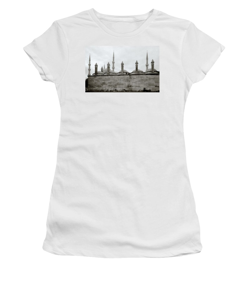Istanbul Women's T-Shirt (Athletic Fit) featuring the photograph Ten Minarets by Shaun Higson