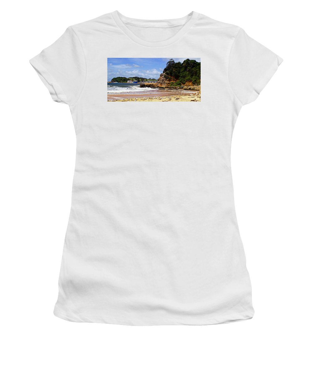 Terrigal Women's T-Shirt (Athletic Fit) featuring the photograph Terrigal by Ben Yassa