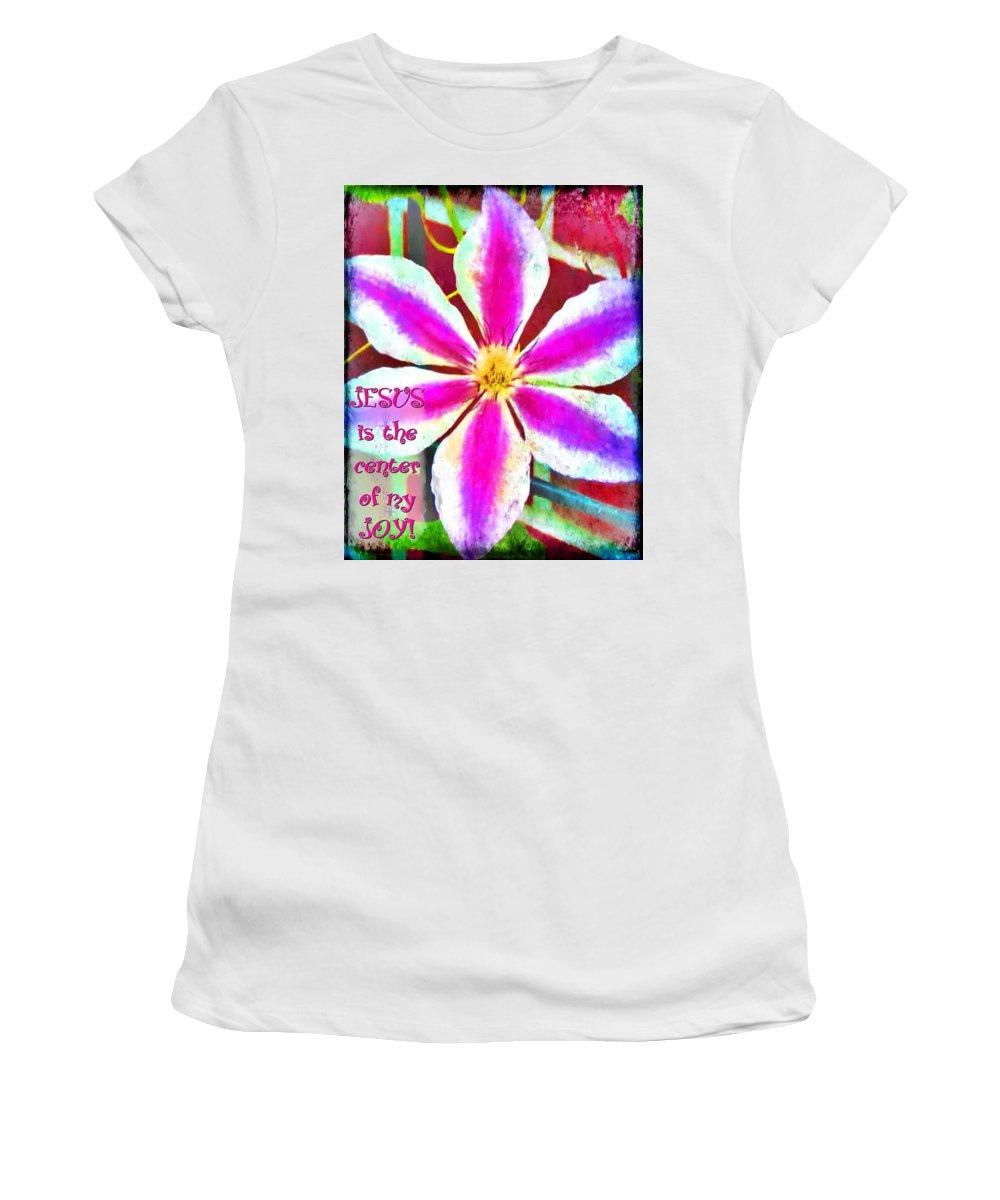 Jesus Women's T-Shirt featuring the digital art The Center by Michelle Greene Wheeler