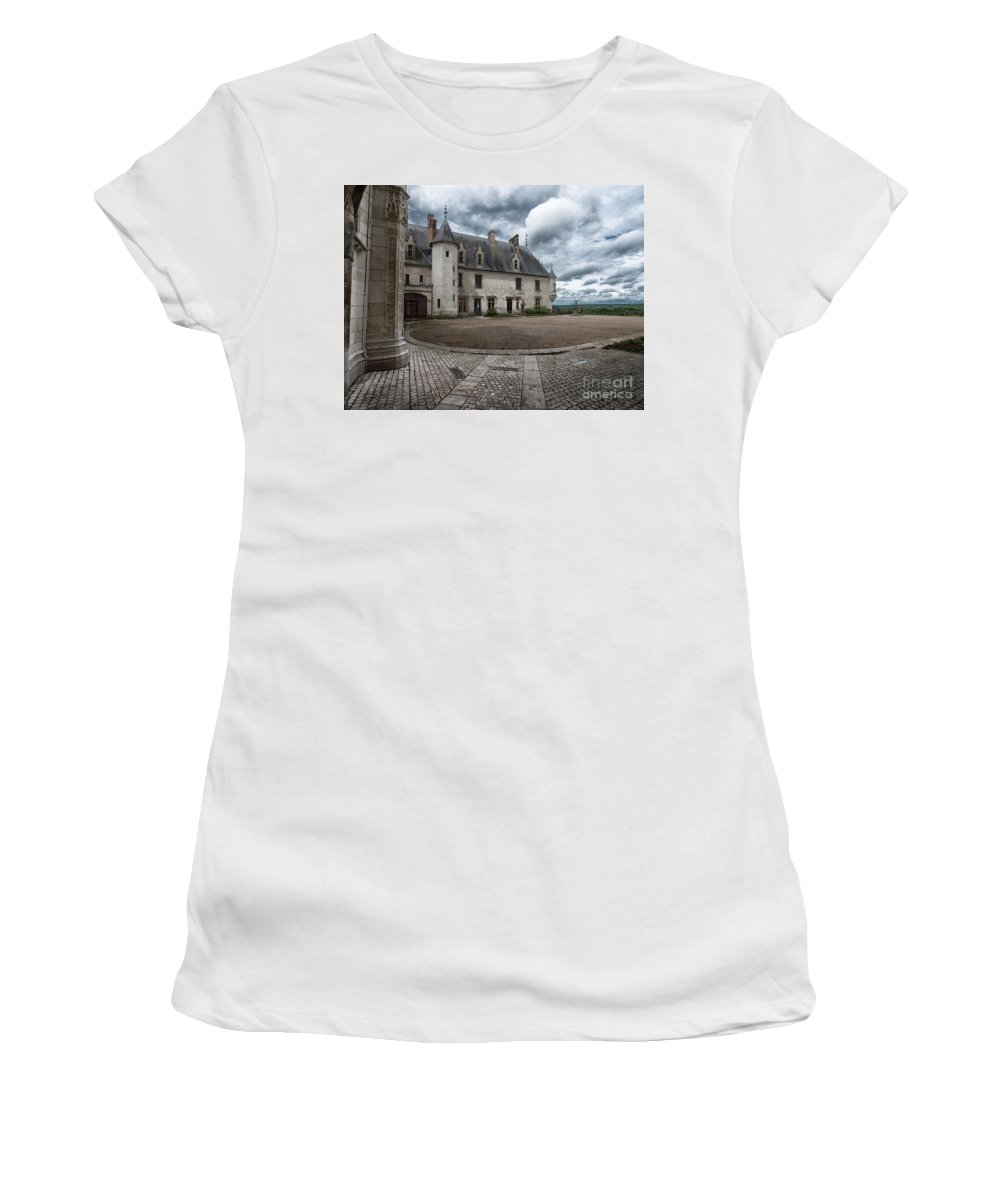 Castle Courtyard Women's T-Shirt featuring the photograph The Courtyard by Brothers Beerens