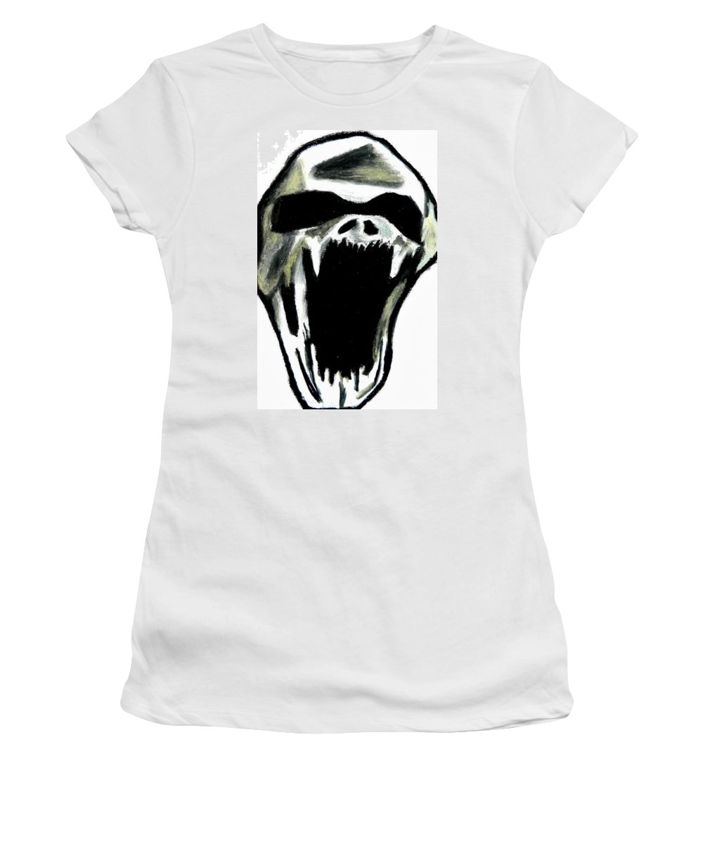 Monster Women's T-Shirt featuring the pastel The Creature by Jo-Ann Hayden