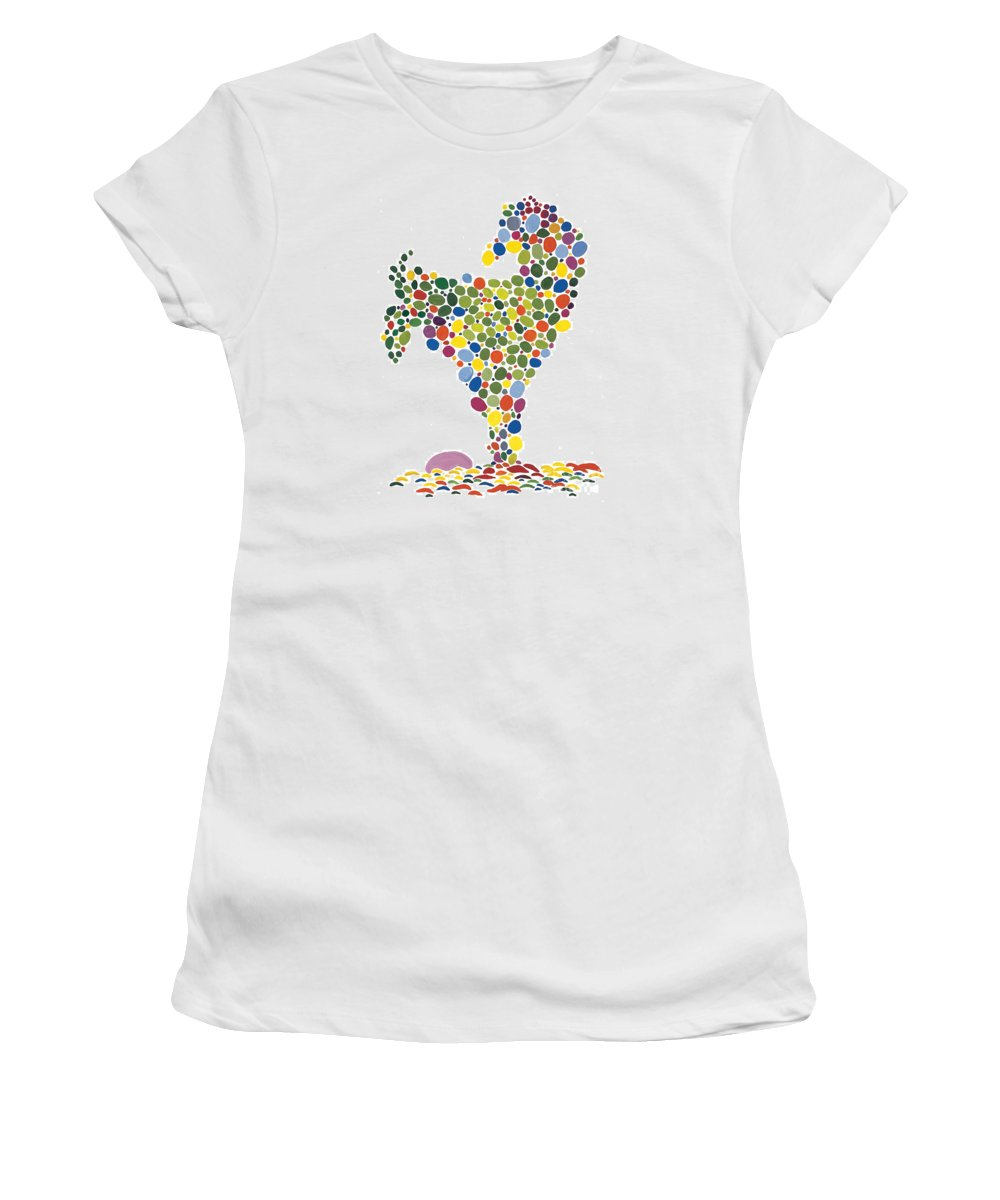 Contemporary Women's T-Shirt featuring the painting The Egg by Bjorn Sjogren