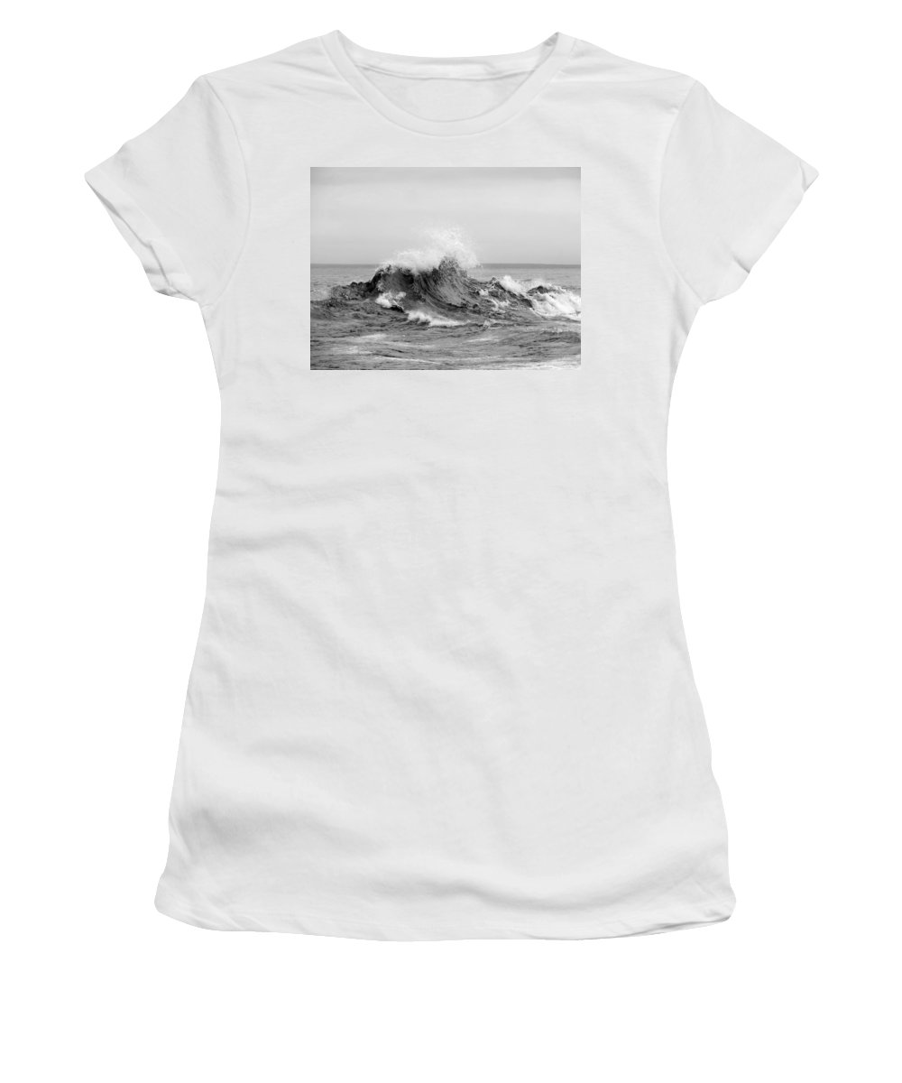 Black And White Women's T-Shirt featuring the photograph The Fury by Alison Gimpel