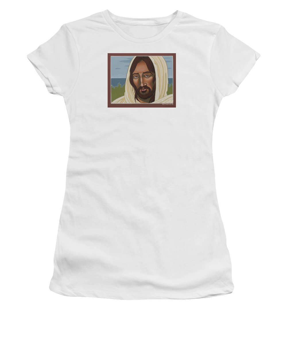 Jesus Women's T-Shirt featuring the painting The Galilean Jesus 266 by William Hart McNichols