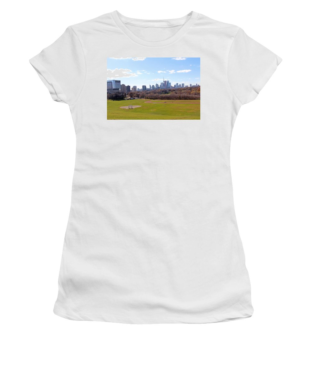 Toronto Women's T-Shirt featuring the photograph The Game by Munir Alawi