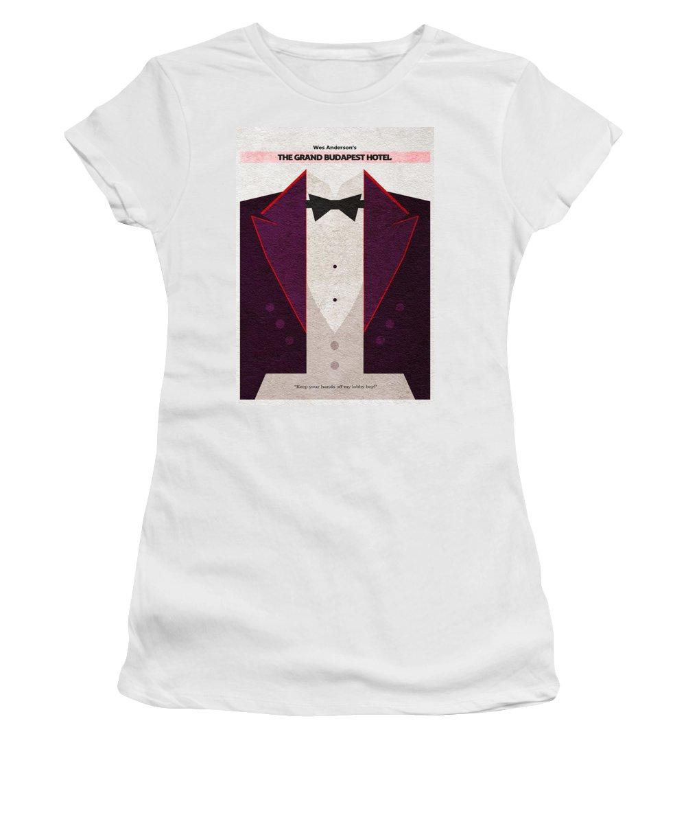 The Grand Budapest Hotel Women's T-Shirt featuring the digital art The Grand Budapest Hotel by Inspirowl Design