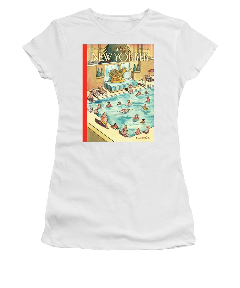 The Great Thaw Women's T-Shirt featuring the painting The Great Thaw by Marcellus Hall