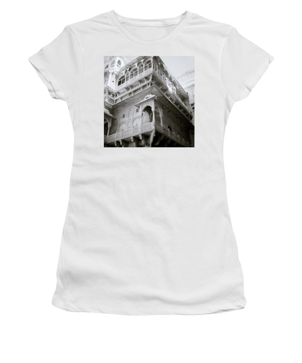 Architecture Women's T-Shirt featuring the photograph The Jaisalmer City Palace by Shaun Higson