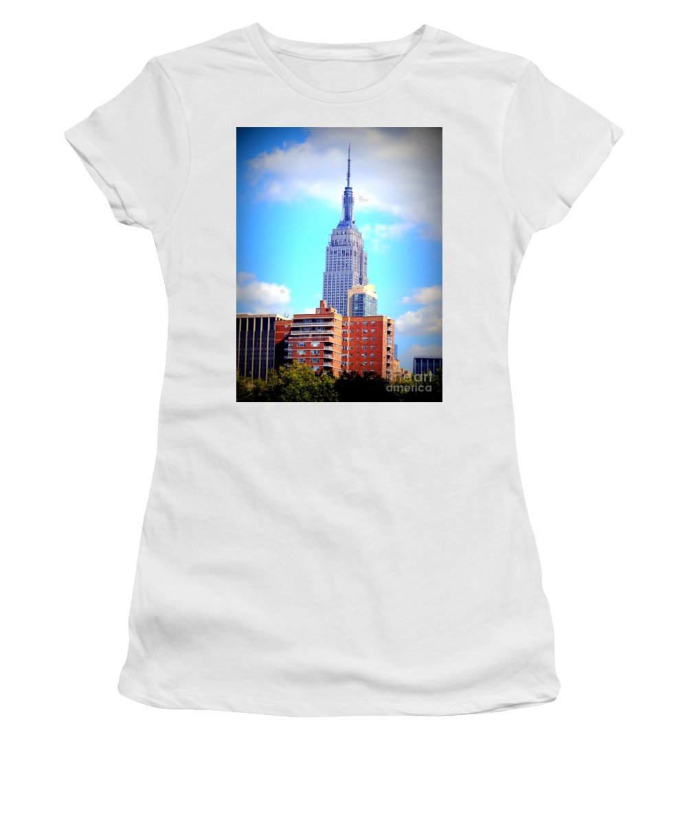 Empire State Building Women's T-Shirt featuring the photograph The Jewel Of New York by Ed Weidman