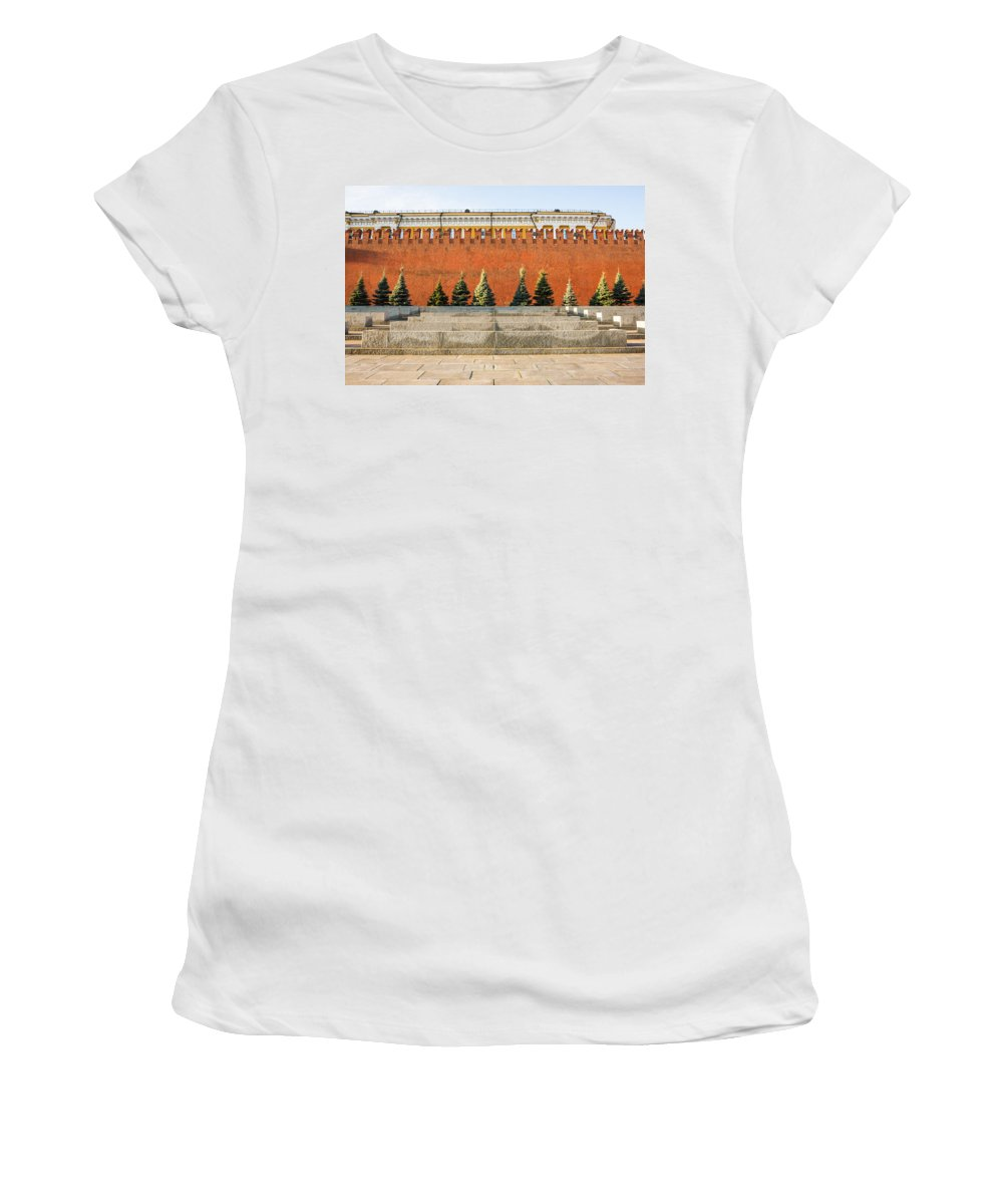 Architecture Women's T-Shirt (Athletic Fit) featuring the photograph The Kremlin Wall by Alexander Senin