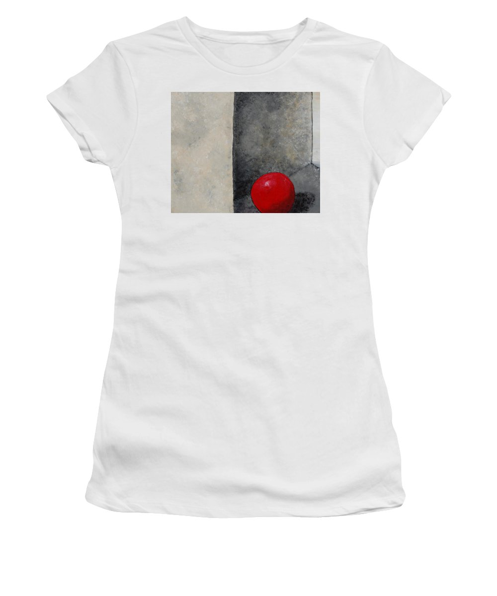 Bright Women's T-Shirt featuring the painting The Last Red Balloon by Sara Gardner