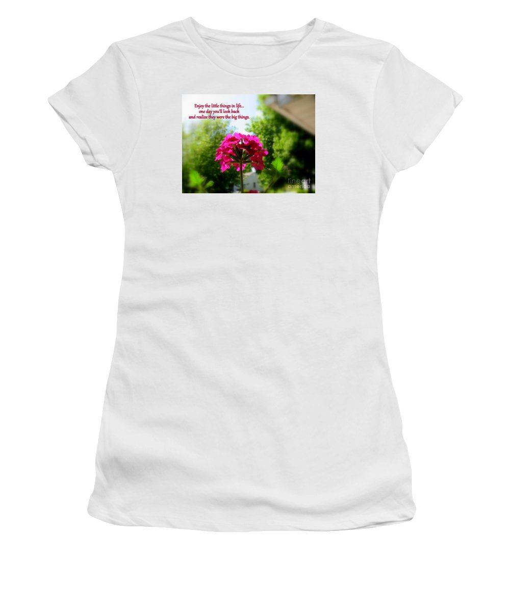The Little Things Women's T-Shirt featuring the photograph The Little Things by Patti Whitten