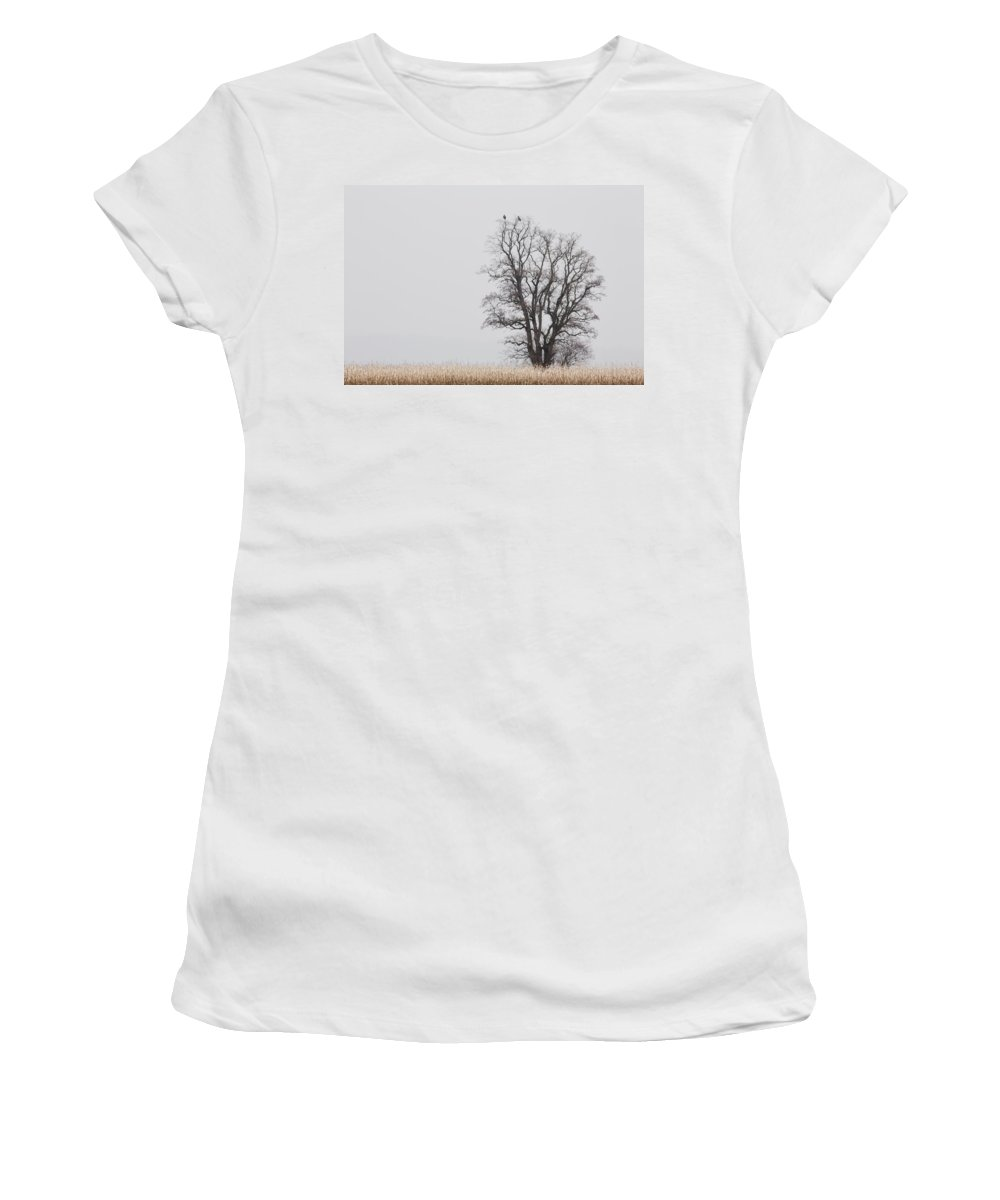 Tree Women's T-Shirt (Athletic Fit) featuring the photograph The Lookout by Bob Stevens