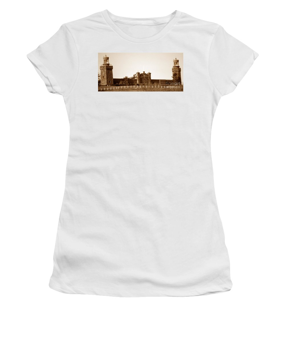 Lighthouses Women's T-Shirt featuring the photograph The Navasink Twins by Skip Willits