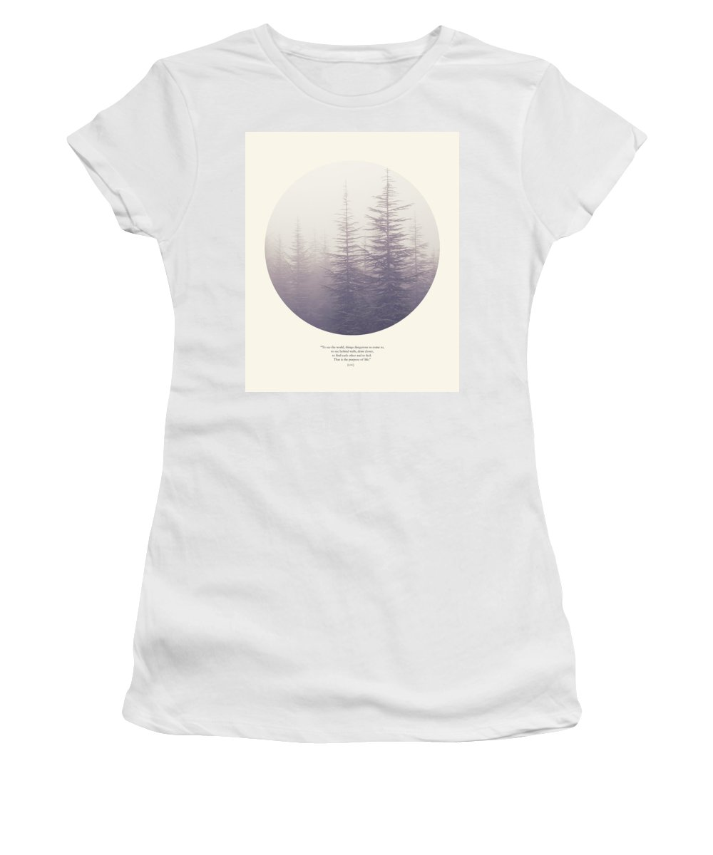 Woods Women's T-Shirt (Athletic Fit) featuring the photograph The Purpose Of Life by Guido Montanes Castillo