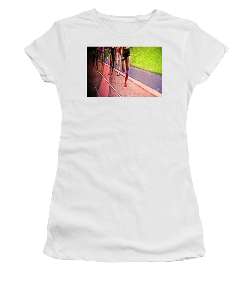 First Star Art Women's T-Shirt (Athletic Fit) featuring the photograph The Race By Jrr by First Star Art