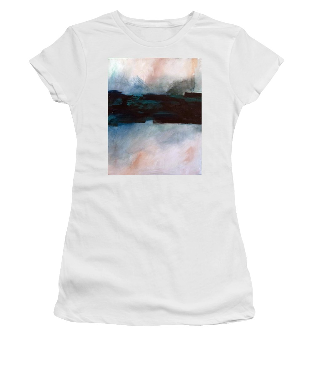 River Tethys Women's T-Shirt (Athletic Fit) featuring the painting The River Tethys Part 1 Of Three by Sean Parnell