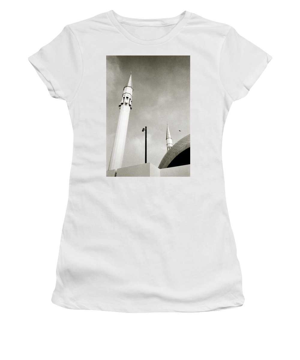 Modern Women's T-Shirt (Athletic Fit) featuring the photograph The Security Camera by Shaun Higson