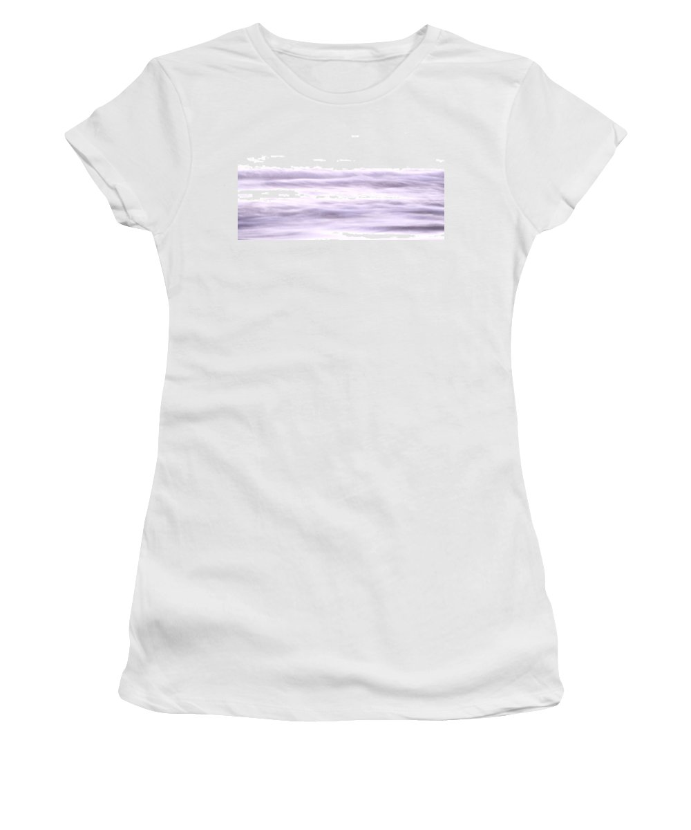 Mauve Women's T-Shirt featuring the photograph The Softness Of The Waves by Steve Taylor