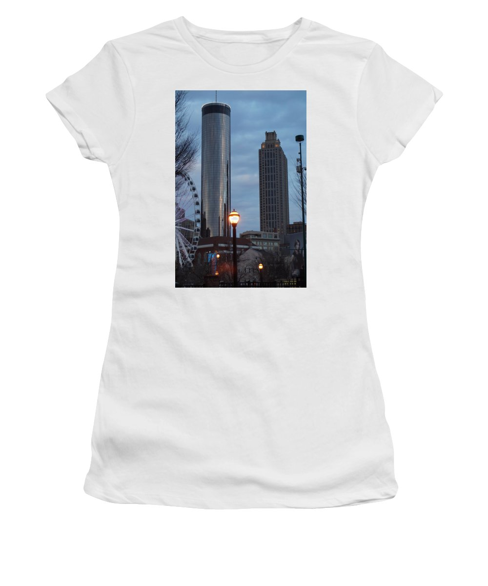 Westin Women's T-Shirt (Athletic Fit) featuring the photograph The Tower And The Plaza by John Wall