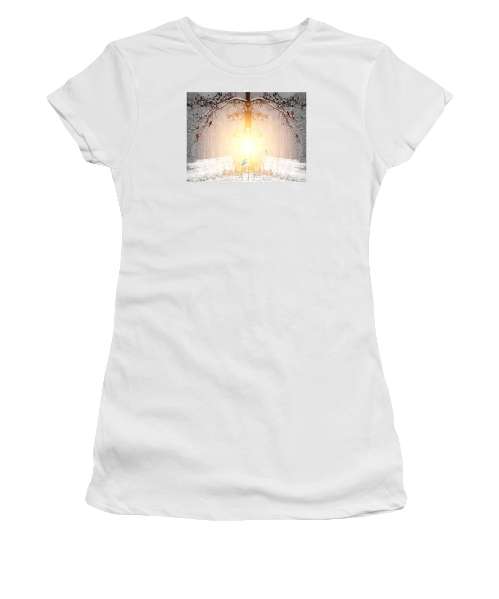Winter Women's T-Shirt (Athletic Fit) featuring the digital art The Tree Of Life by Bill Stephens
