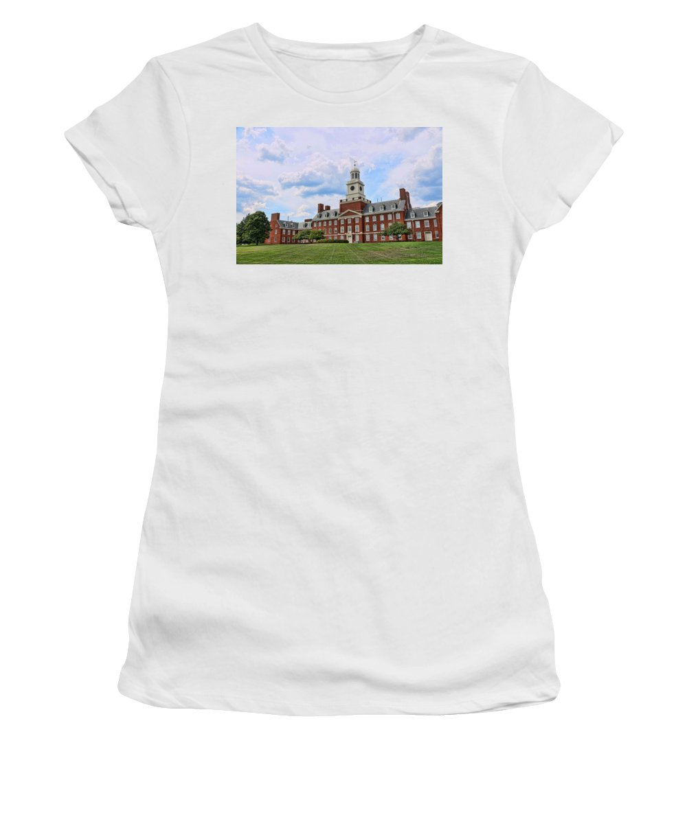 Rutgers Women's T-Shirt featuring the photograph The Waksman Institute Of Microbiology by Allen Beatty
