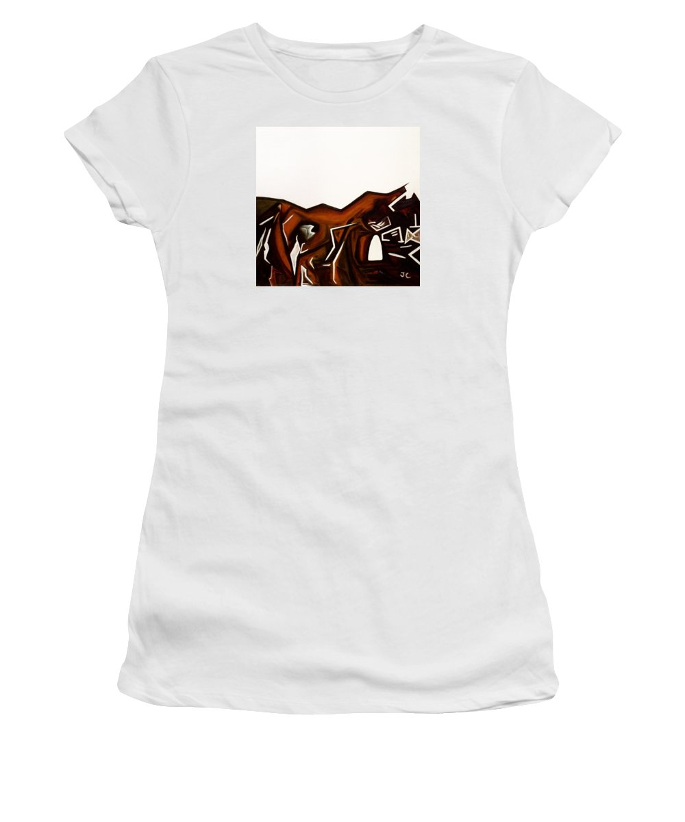 Way Through Women's T-Shirt (Athletic Fit) featuring the painting The Way Through by Judith Chantler