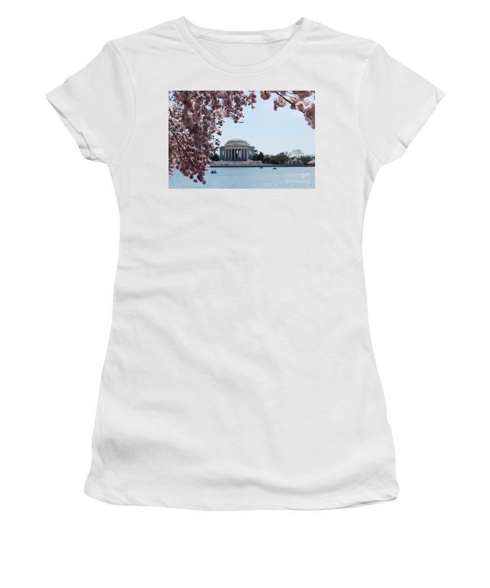 Memorial Women's T-Shirt featuring the photograph Thomas Jefferson Memorial In Dc by DejaVu Designs