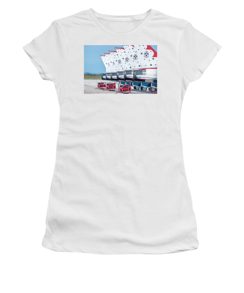 Navy Women's T-Shirt featuring the photograph Thunderbirds by Amel Dizdarevic