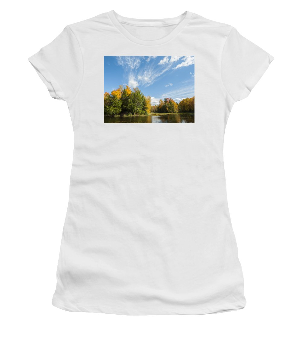 Tiffin Women's T-Shirt (Athletic Fit) featuring the photograph Tiffin Fall by Richard Kitchen