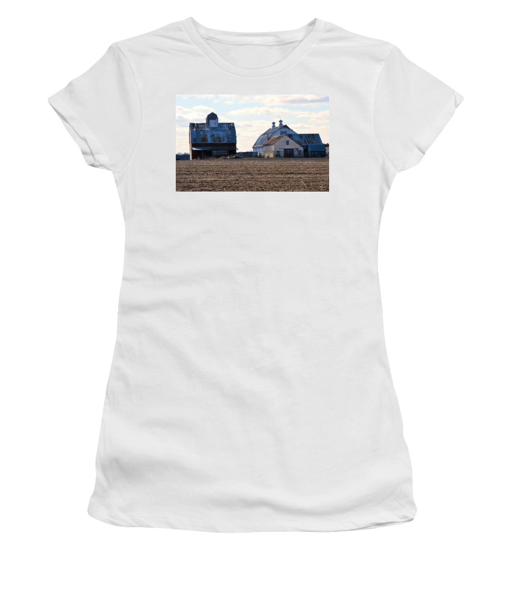 Farm Women's T-Shirt (Athletic Fit) featuring the photograph Tin Roof Farm by Bonfire Photography