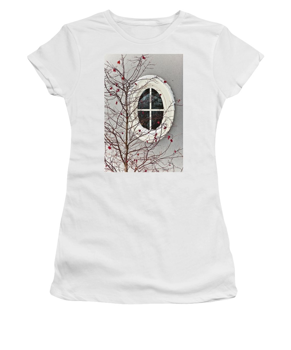 Window Women's T-Shirt (Athletic Fit) featuring the photograph To Everyone On Fine Art America - Happy New Year And Thank You by Hany J