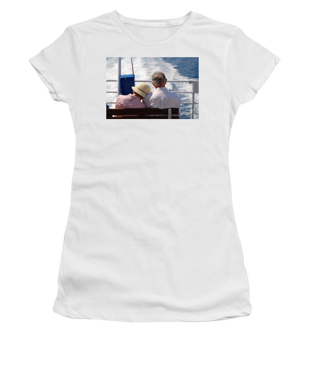 Together Women's T-Shirt featuring the photograph Together In Greece by David Fowler