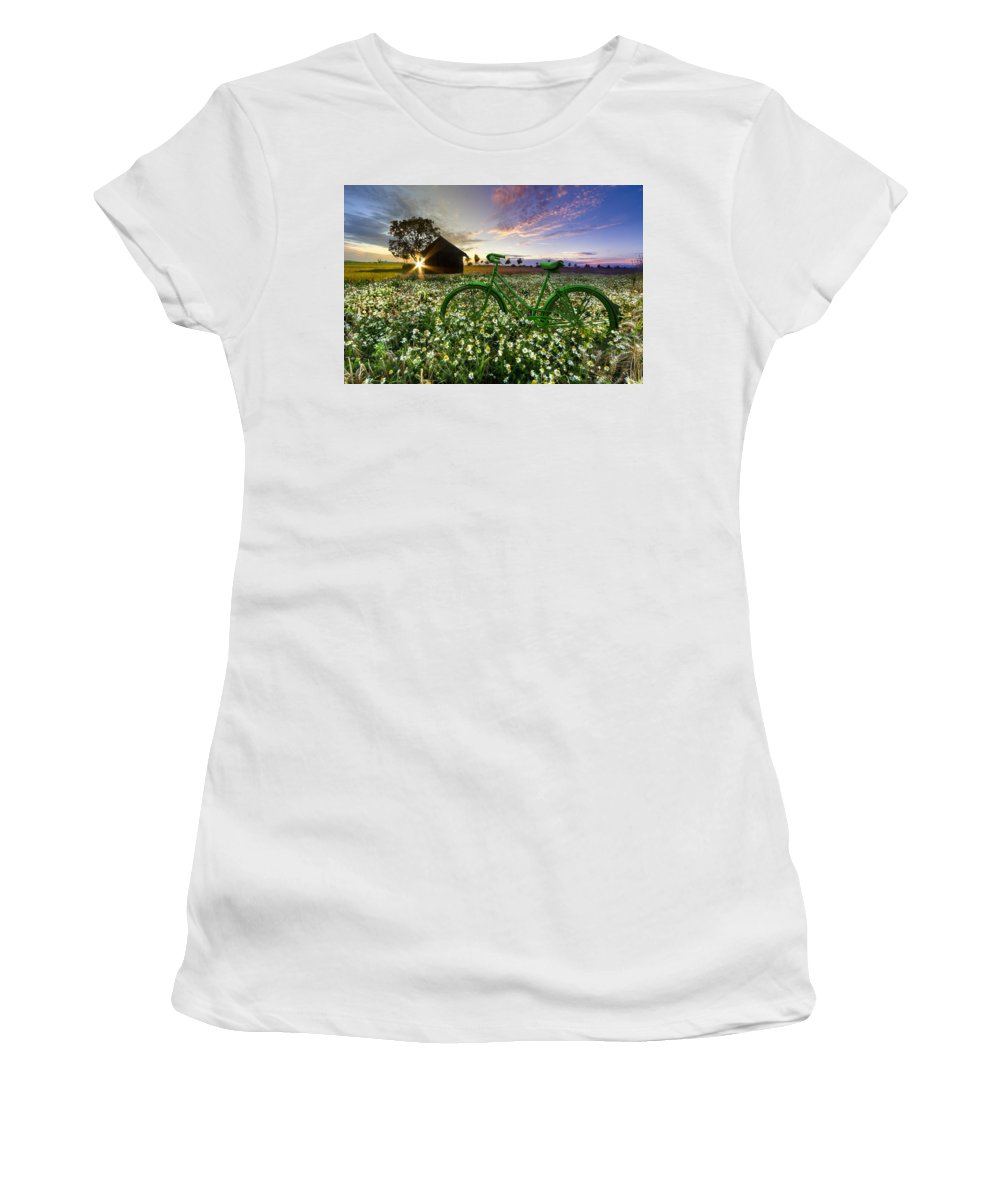 Appalachia Women's T-Shirt (Athletic Fit) featuring the photograph Tour De France by Debra and Dave Vanderlaan
