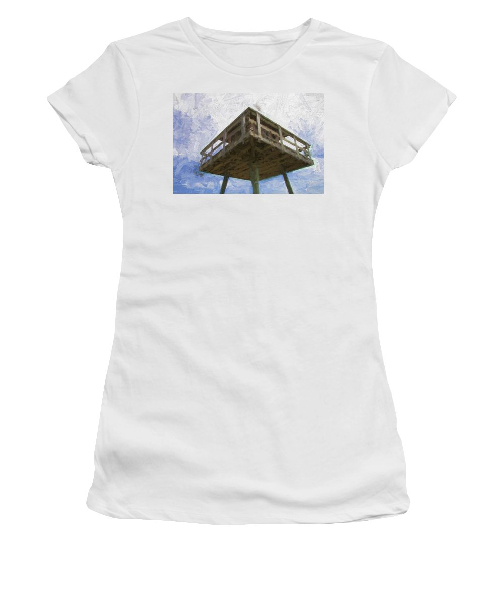 Ww2tower Women's T-Shirt (Athletic Fit) featuring the photograph Towerview by Alice Gipson