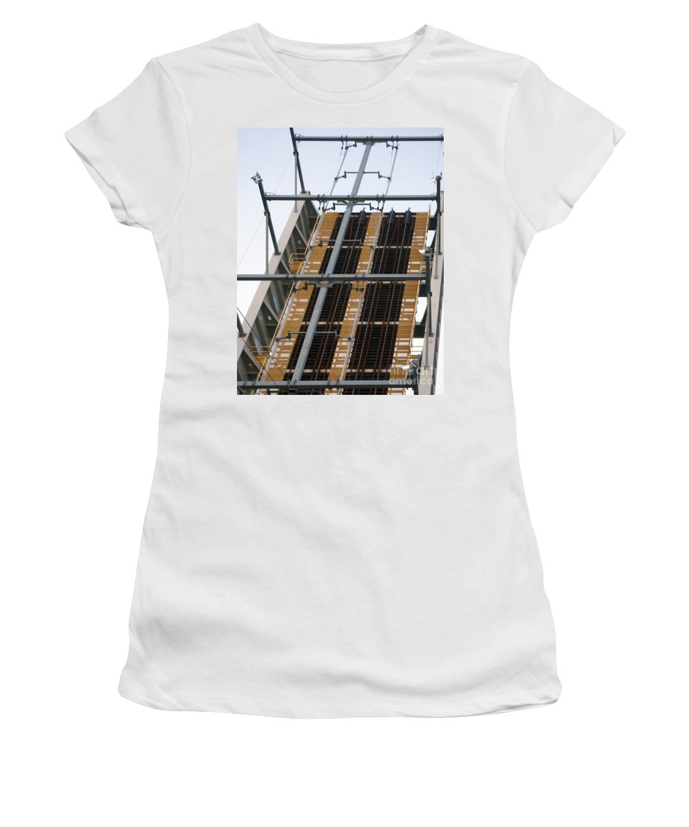 Train Women's T-Shirt featuring the photograph Tracks To Nowhere by Ray Konopaske