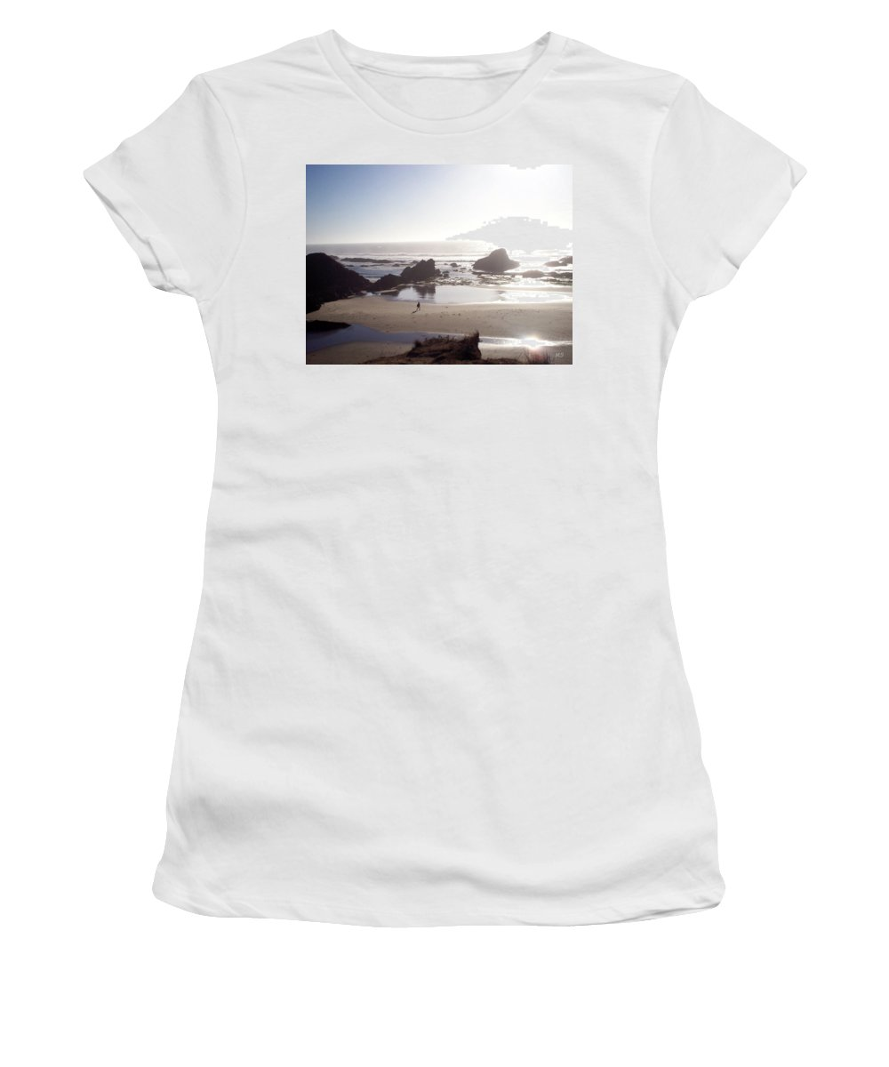 Beach Women's T-Shirt featuring the photograph Tranquil Beach by Absinthe Art By Michelle LeAnn Scott