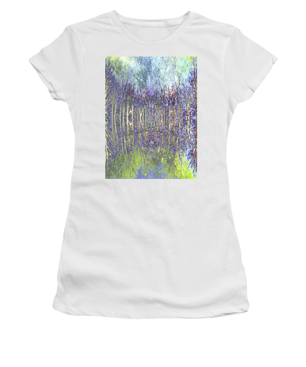 Abstract Women's T-Shirt (Athletic Fit) featuring the photograph Trees For The Forest by Candee Lucas