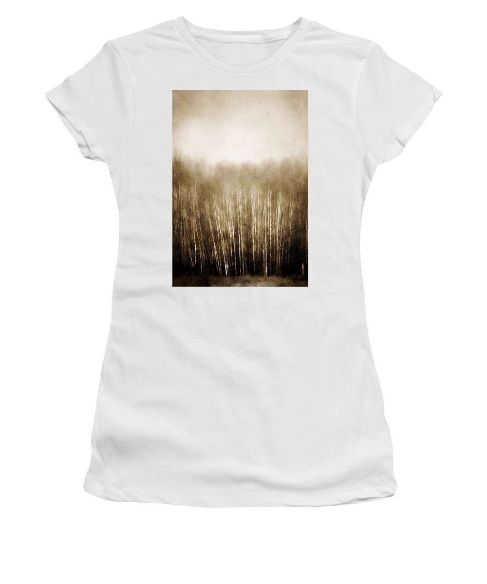 Trees Women's T-Shirt (Athletic Fit) featuring the photograph Truths Falls by The Artist Project
