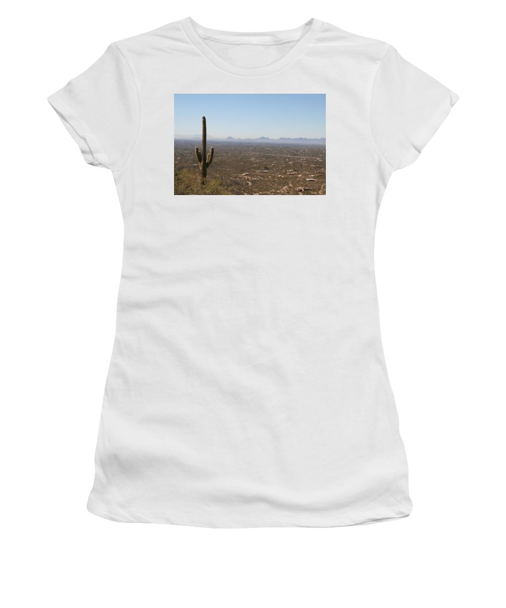 Tucson Women's T-Shirt (Athletic Fit) featuring the photograph Tucson by David S Reynolds