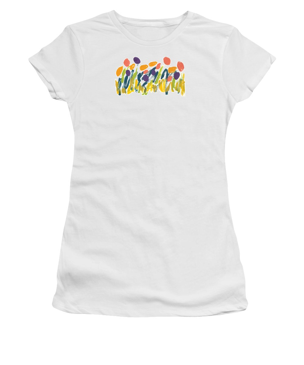 Contemporary Women's T-Shirt featuring the painting Tulips by Bjorn Sjogren