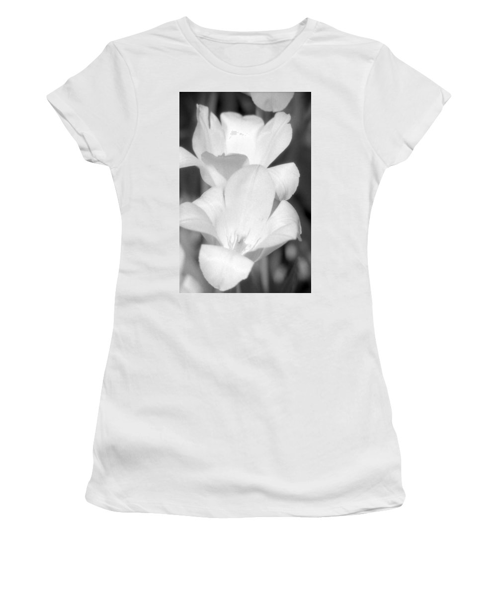 Tulip Women's T-Shirt featuring the photograph Tulips - Infrared 37 by Pamela Critchlow