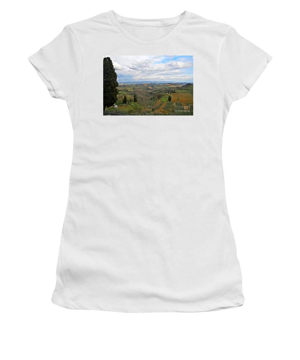 Travel Women's T-Shirt featuring the photograph Tuscany Life by Elvis Vaughn