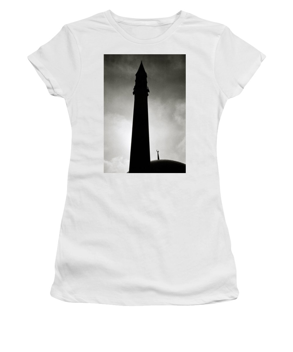 Inspiration Women's T-Shirt (Athletic Fit) featuring the photograph Twilit Mosque by Shaun Higson