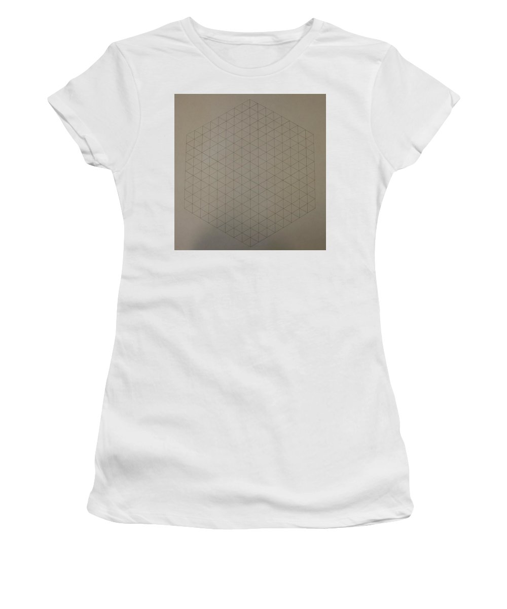 Math Women's T-Shirt (Athletic Fit) featuring the drawing Two To The Power Of Nine Or Eight Cubed by Jason Padgett
