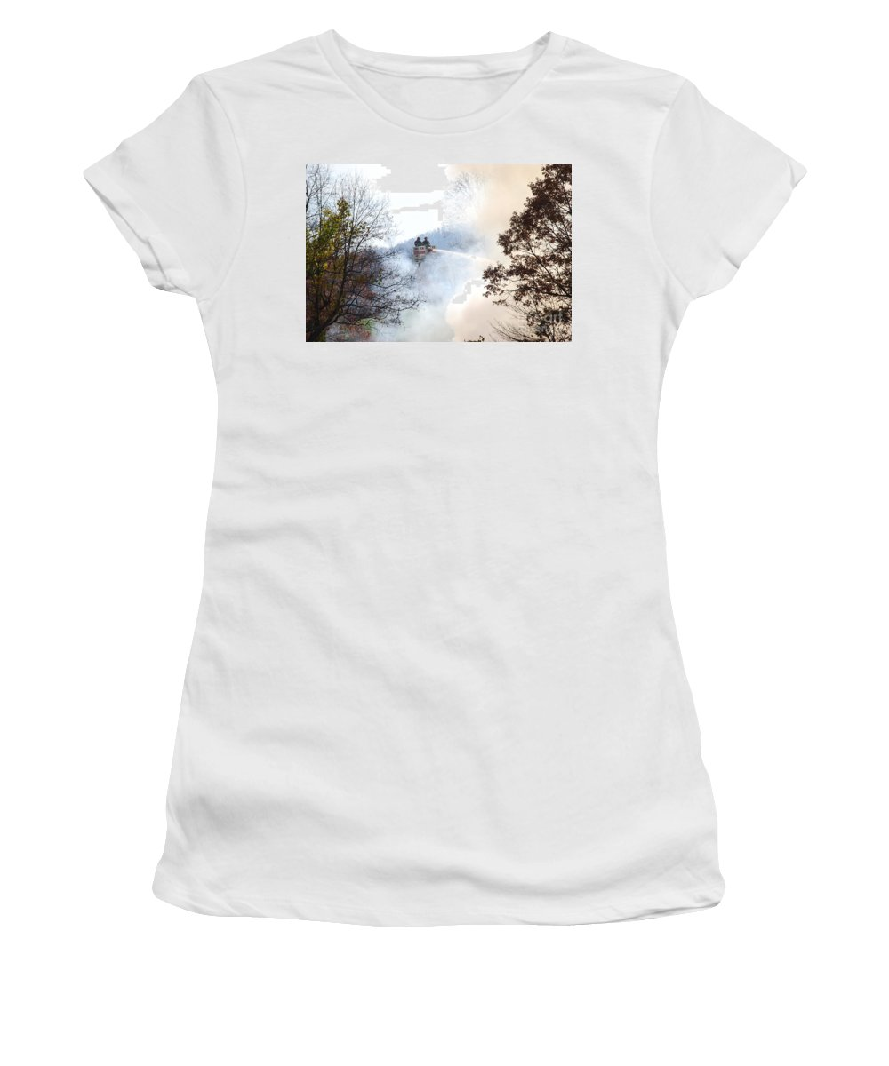 Fire Women's T-Shirt featuring the photograph Up In Smoke by Eric Liller