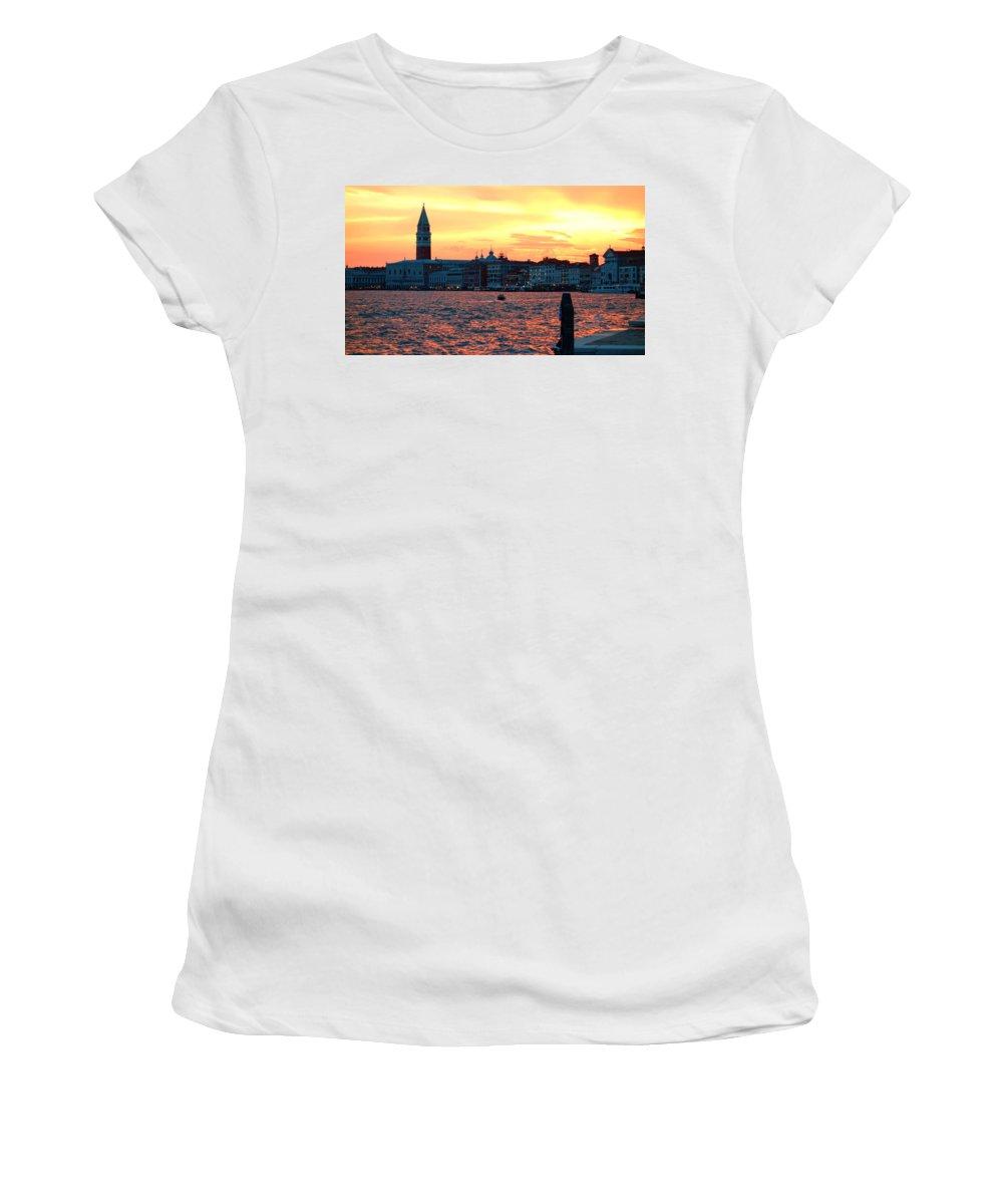 Venezia Women's T-Shirt featuring the photograph Venice Colors by Valentino Visentini