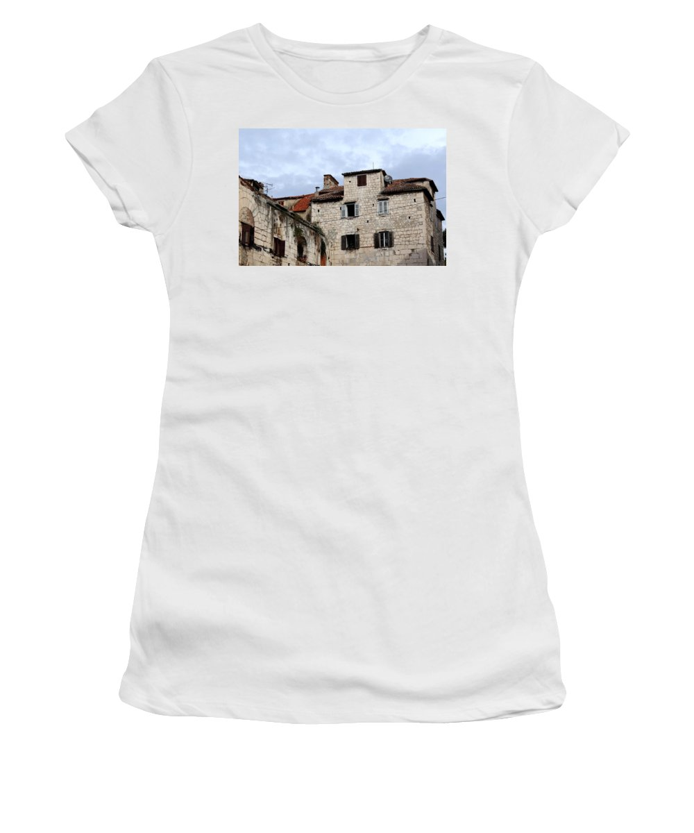 Split Croatia Women's T-Shirt featuring the photograph Vies Of Split Croatia by Richard Rosenshein